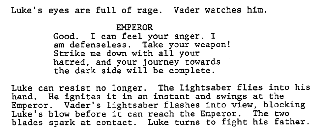 The Single Most Important Piece Of Pop Culture In Modern History Star Wars Here Is Final Fight Between Luke And Vader Return Jedi
